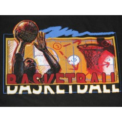Y XL - Fruit of The Loom - Basketball - czarny r-shirt
