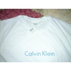 L - Calvin Klein - t-shirt biały